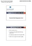 Bài giảng Tài chính quốc tế: Quản trị rủi ro tài chính