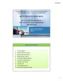 Thuyết trình: Thủ tục hải quan đối với hàng xuất nhập khẩu thương mại