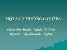 Bài giảng Một số u thường gặp ở da - BS. Nguyễn Thị Thơm