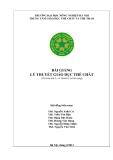 Bài giảng Lý thuyết giáo dục thể chất: Phần 1 - ĐH Nông nghiệp Hà Nội