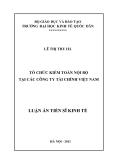 Luận án Tiến sĩ Kinh tế: Tổ chức kiểm toán nội bộ tại các công ty tài chính Việt Nam