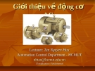 Bài giảng Giới thiệu về động cơ AC