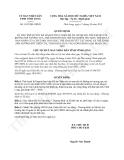 Quyết định 1652/QĐ-UBND năm 2013
