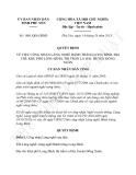 Quyết định 1801/QĐ-UBND năm 2013