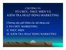 Bài giảng Quản trị Marketing: Chương 6 - Phạm Thị Ngọc Thảo