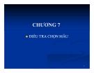 Bài giảng Nguyên lý thống kê: Chương 7 - GV. Hà Văn Sơn