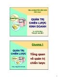 Bài giảng Quản trị chiến lược kinh doanh: Chương 1 - TS. Nguyễn Văn Sơn