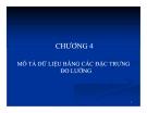 Bài giảng Nguyên lý thống kê: Chương 4 - GV. Hà Văn Sơn