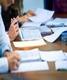 Luận án Tiến sĩ Kinh tế: Tổ chức kế toán quản trị với việc tăng cường quản lý hoạt động kinh doanh trong các doanh nghiệp xây lắp Việt Nam