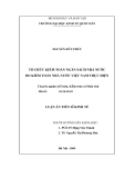 Luận án Tiến sĩ Kinh tế: Tổ chức kiểm toán ngân sách nhà nước do Kiểm toán Nhà nước Việt Nam thực hiện
