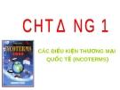 Bài giảng Thương mại quốc tế: Chương 1