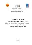 Tài liệu tập huấn Thực hiện Luật Phòng, chống bạo lực gia đình ở Việt Nam (dành cho giảng viên)