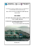 Bài giảng Xây dựng một trang trại nuôi cá biển quy mô công nghiệp, hiện đại - Chu Chí Thiết, Trần Trung Thành