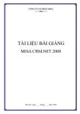 Tài liệu bài giảng  MISA CRM.NET 2008