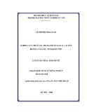 Luận văn Thạc sỹ Kinh tế: Nghiên cứu chuỗi giá trị ngành hàng rau bắp cải huyện Văn Lâm - tỉnh Hưng Yên