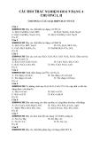 Câu hỏi trắc nghiệm Hoá 9 dạng 4 chương I, II