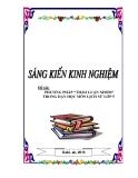 """SKKN: Phương pháp """"thảo luận nhóm"""" trong dạy học môn Lịch sử lớp 5"""