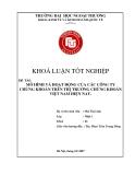 Khóa luận tốt nghiệp: Mô hình và hoạt động của các công ty chứng khoán trên thị trường chứng khoán Việt Nam hiện nay