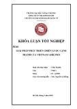 Khóa luận tốt nghiệp: Giải pháp phát triển chiến lược cạnh tranh của VietNam Airlines