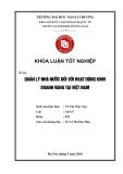 Khóa luận tốt nghiệp: Quản lý nhà nước đối với hoạt động kinh doanh vàng tại Việt Nam