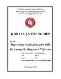 Khóa luận tốt nghiệp: Thực trạng và giải pháp phát triển thị trường bất động sản ở Việt Nam