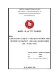 Khóa luận tốt nghiệp: Kinh doanh các dịch vụ liên quan đến rác thải mô hình tại Nhật Bản và bài học kinh nghiệm đối với Việt Nam