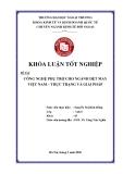Khóa luận tốt nghiệp: Công nghiệp phụ trợ cho ngành dệt may Việt Nam: Thực trạng và giải pháp