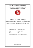 Khóa luận tốt nghiệp: Kinh nghiệm quản lý hệ thống bán lẻ trên thế giới và giải pháp vận dụng đối với Việt Nam