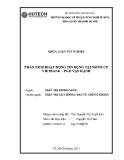 Khóa luận tốt nghiệp: Phân tích hoạt động tín dụng tại ngân hàng TM CP Vietbank - PGD Vạn Hạnh