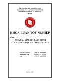 Khóa luận tốt nghiệp: Nâng cao năng lực cạnh tranh của doanh nghiệp xuất khẩu Việt Nam