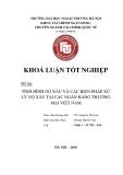 Khóa luận tốt nghiệp: Tình hình nợ xấu và các biện pháp xử lý nợ xấu tại các ngân hàng thương mại Việt Nam