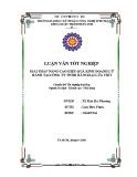 Khóa luận tốt nghiệp: Giải pháp nâng cao hiệu quả kinh doanh lữ hành tại công ty TNHH dã ngoại Lửa Việt