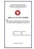 Khóa luận tốt nghiệp: Thực trạng thị trường bán lẻ Châu Á và những kiến nghị đối với Việt Nam