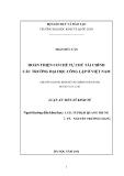 Luận án Tiến sĩ Kinh tế: Hoàn thiện cơ chế tự chủ tài chính các trường Đại học công lập ở Việt Nam