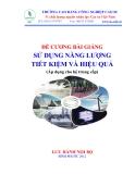 Đề cương bài giảng Sử dụng năng lượng tiết kiệm và hiệu quả - ThS. Vũ Phạm Lan Anh