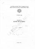 Bài giảng Kinh tế lượng - GV. Lê Khắc Bộ