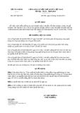 Quyết định 2607/QĐ-BTC năm 2013