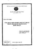 Đồ án tốt nghiệp: Ứng dụng một số biện pháp kỹ thuật trong bảo quản thanh long Bình Thuận