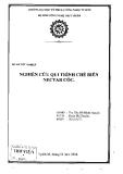 Đồ án tốt nghiệp: Nghiên cứu quy trình chế biến Nectar cóc