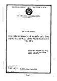 Đồ án tốt nghiệp: Tìm hiểu về HACCP và nghiên cứu ứng dụng HACCP vào công nghệ sản xuất trà sữa