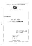 Đồ án tốt nghiệp: Tìm hiểu về sen và các sản phẩm từ sen