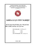 Khóa luận tốt nghiệp: Bong bóng bất động sản ở Mỹ giai đoạn 2001 - 3/ 2008 và bài học cho Việt Nam