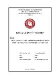 Khóa luận tốt nghiệp: Thực trạng và giải pháp hoàn thiện kế toán thuế thu nhập doanh nghiệp tại Việt Nam