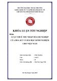 Khóa luận tốt nghiệp: Luật thuế thu nhập doanh nghiệp của Hoa Kỳ và bài học kinh nghiệm cho Việt Nam