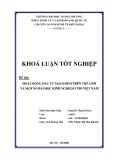Khóa luận tốt nghiệp: Hoạt động đầu tư mạo hiểm trên thế giới và một số bài học kinh nghiệm cho Việt Nam (2008)