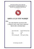 Khóa luận tốt nghiệp: Quan hệ thương mại hàng hoá và dịch vụ giữa Việt Nam và Hoa Kỳ trong bối cảnh hội nhập