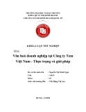Khóa luận tốt nghiệp: Văn hóa doanh nghiệp tại công ty tem Việt Nam - thực trạng và giải pháp