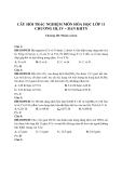 Câu hỏi trắc nghiệm môn Hóa học lớp 11 chương III, IV – Ban KHTN
