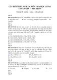 Câu hỏi trắc nghiệm môn Hóa học lớp 11 chương IX  – Ban KHTN