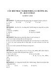 Câu hỏi trắc nghiệm Hoá 11 chương III, IV - Ban cơ bản